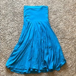 JCrew • Aqua Tube Flair Dress
